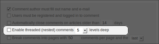 WordPress 2.7 Beta 1, Administration, Settings, Discussion, Threaded Comments