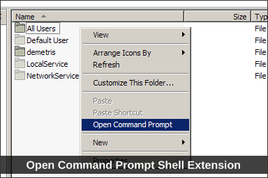 Open Command Prompt Shell Extension
