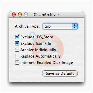 CleanArchiver for Mac OS X, Preferences