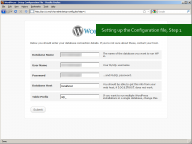 WordPress 3.0: Setting up wp-config.php, Step 1