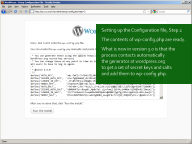 WordPress 3.0: Setting up wp-config.php, Step 2, keys and salts