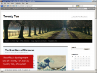 WordPress 3.0: Twenty Ten theme