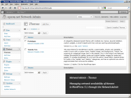 WordPress 3.1, Network Admin, Themes